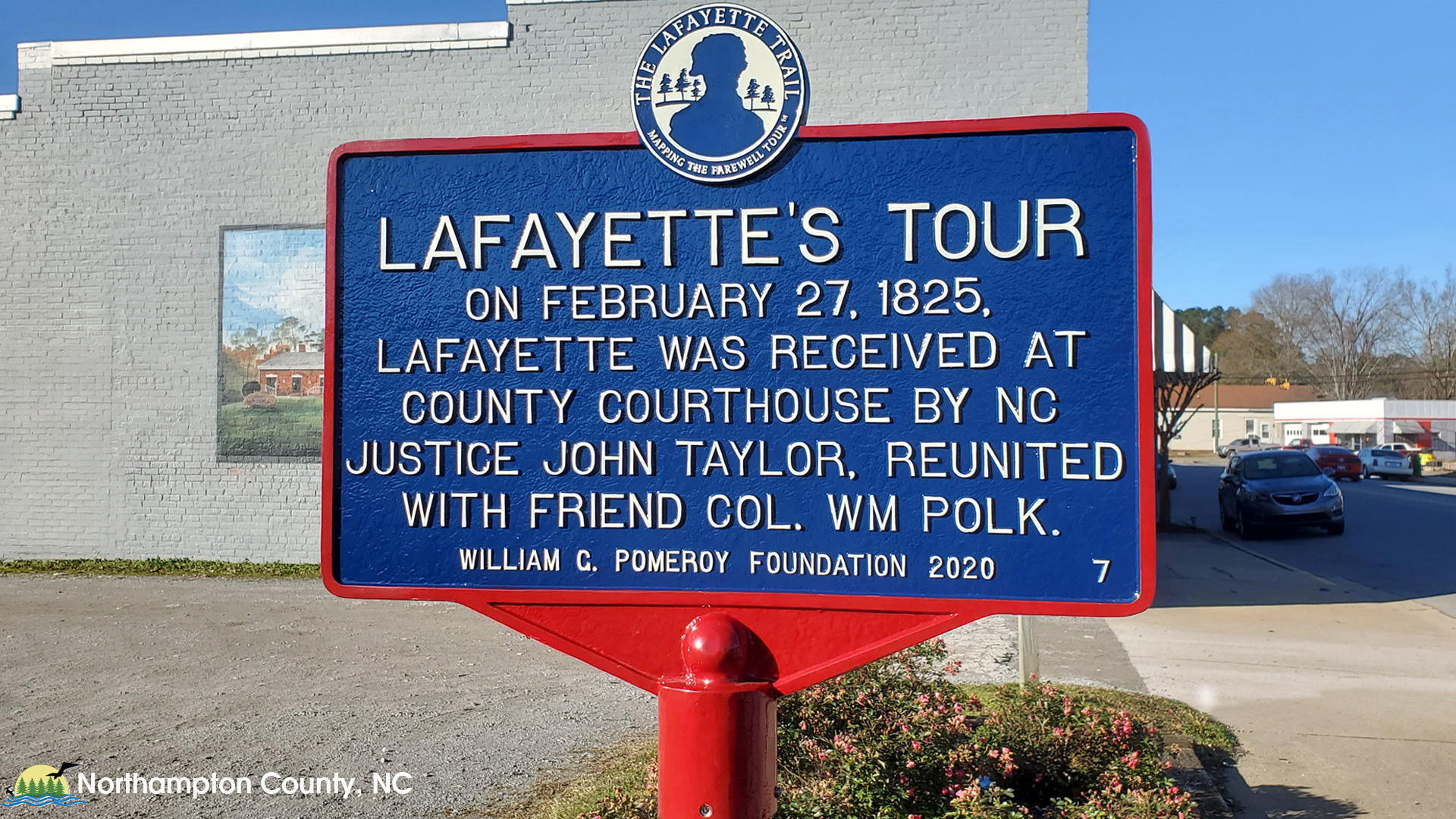 Lafayette Trail Marker Dedication Ceremony