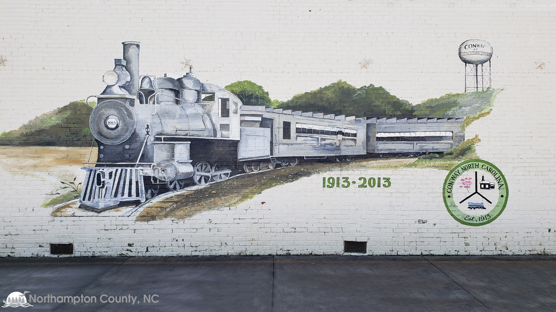 Conway, NC Napolean Hill train mural