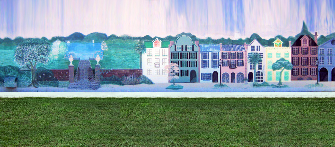 Penny Beasley mural painting of Woodland, NC
